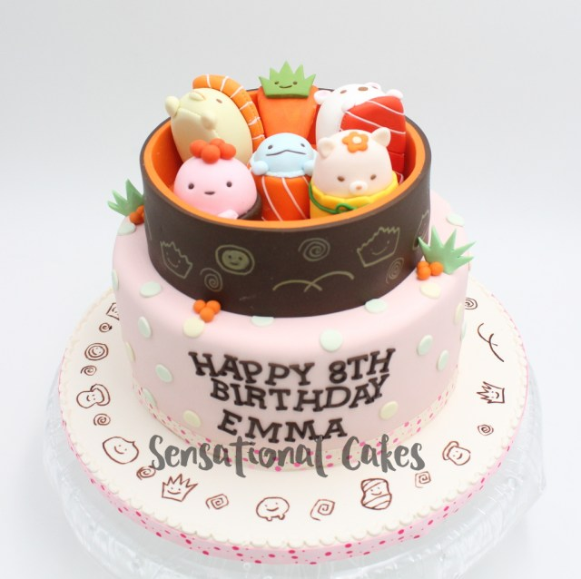 Sushi Birthday Cake The Sensational Cakes Sushi Food Pink Theme For Girl Birthday Cake