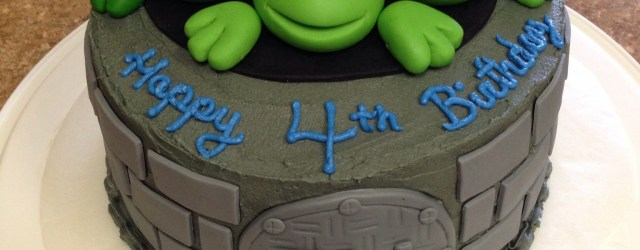 Teenage Mutant Ninja Turtle Birthday Cake Tmnt Cake I Made For My Sons 4th Birthday I Used Fondant For The
