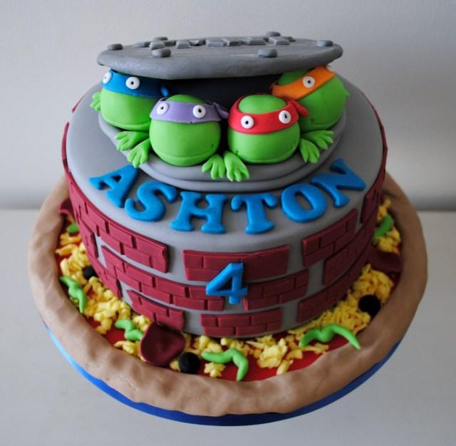 Teenage Mutant Ninja Turtles Birthday Cake Miss Cupcakes Blog Archive Teenage Mutant Ninja Turtle Birthday Cake