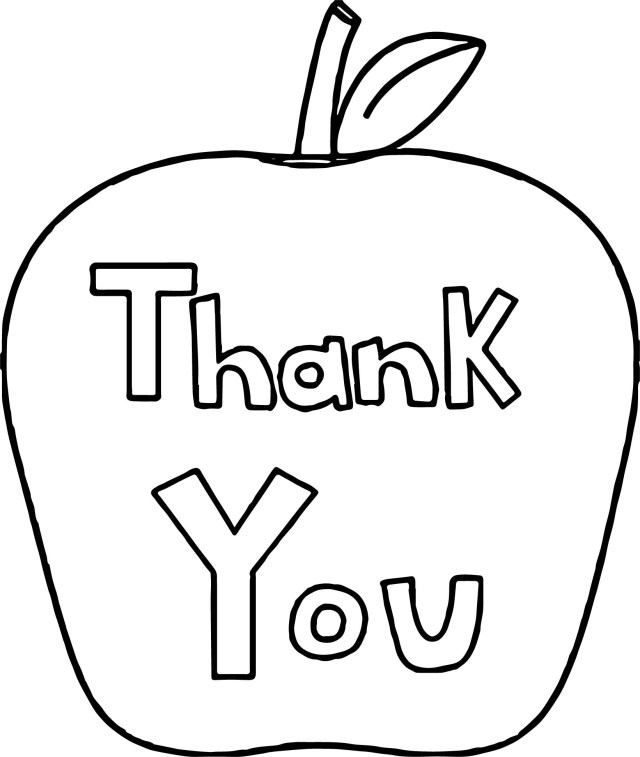 Thank You Coloring Pages Thank You Awesome Apple Coloring Page Wecoloringpage