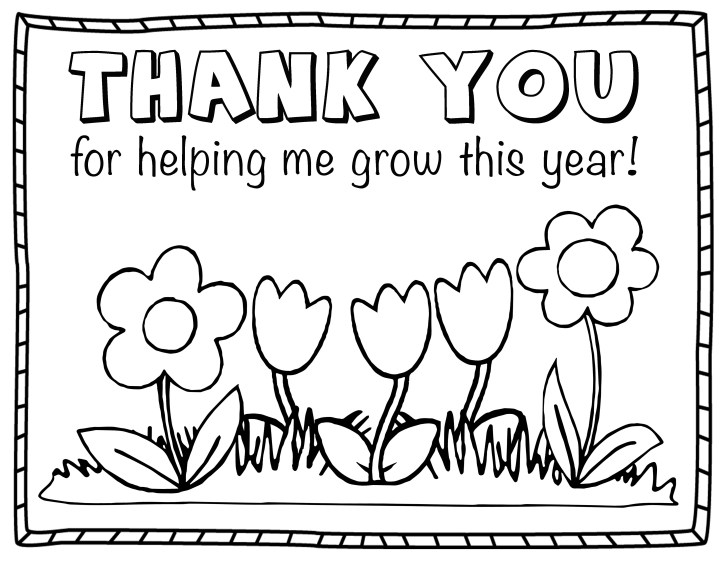 25+ Inspired Photo of Thank You Coloring Pages