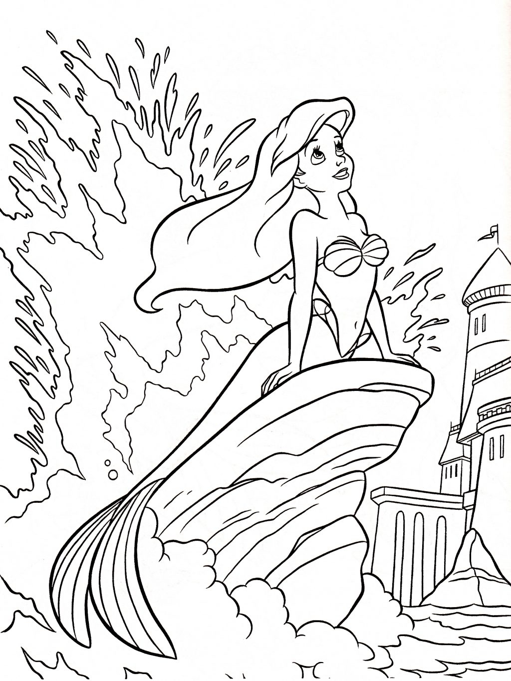 The Little Mermaid Coloring Pages Coloring Page Coloring Page Ariel