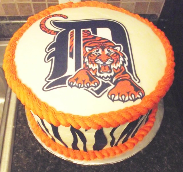 Tiger Birthday Cake 11 Two Layer Detroit Tiger Cakes Photo Detroit Tigers Birthday