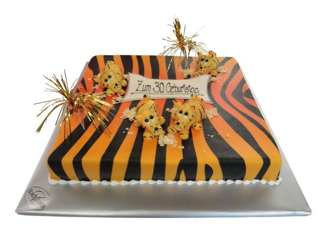 Tiger Birthday Cake Cake Tiger Birthday Confiserie Bachmann Lucerne