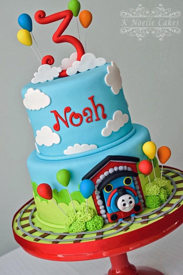Train Birthday Cakes Thomas The Train Cake K Noelle Cakes Cakes K Noelle Cakes