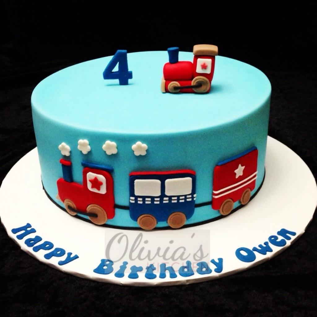 Train Birthday Cakes Themed Cake Oliviaskitchen Flickr