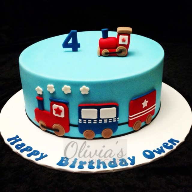 Train Birthday Cakes Train Themed Birthday Cake Oliviaskitchen Flickr