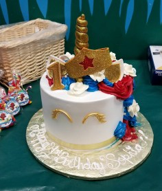 Tres Leches Birthday Cake Wonderwoman Unicorn Tres Leches Cake From El Bolillo Bakery In