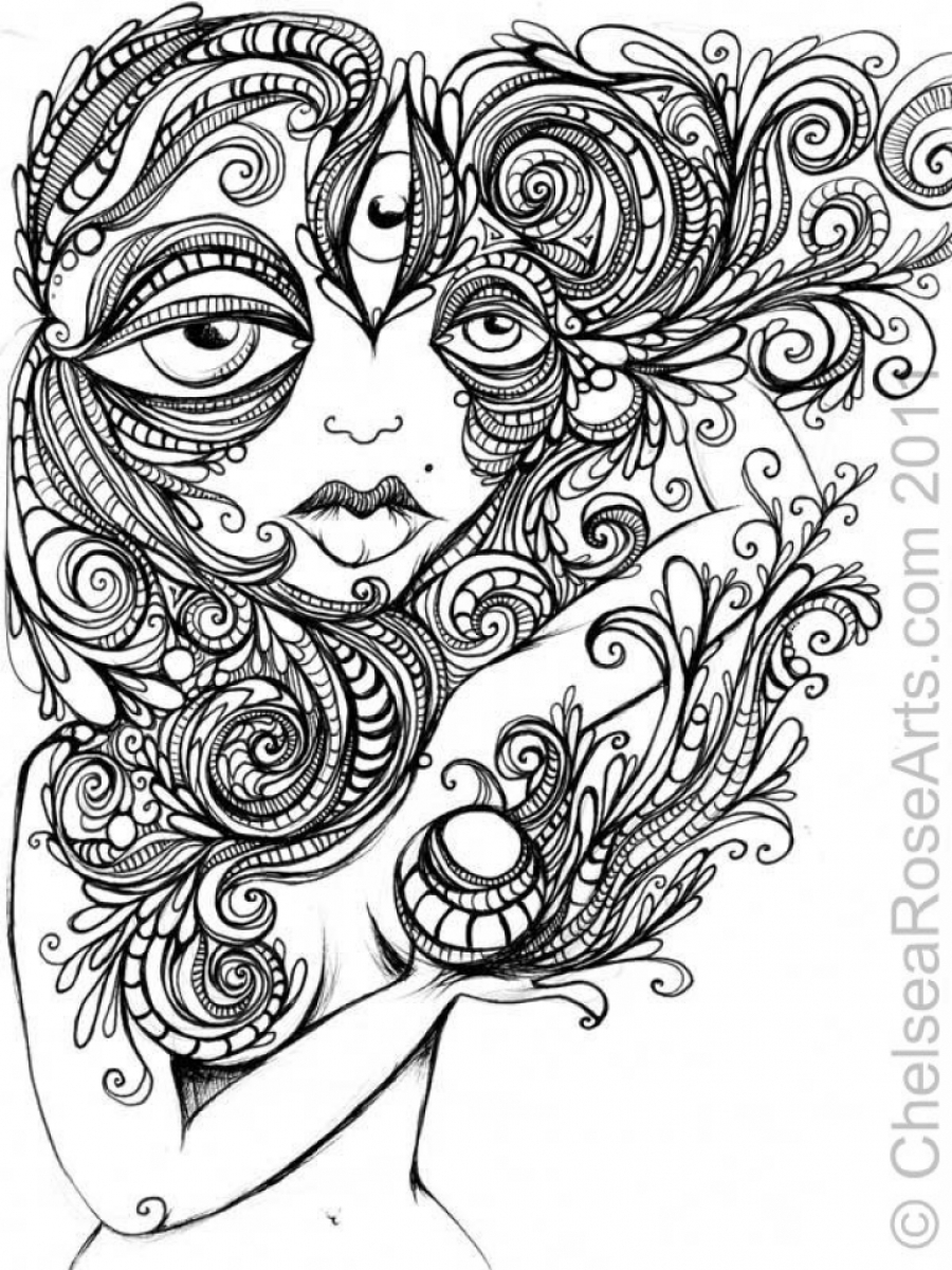 Trippy Coloring Pages Trippy Coloring Sheets Unforgettable Psychedelic Landscape And