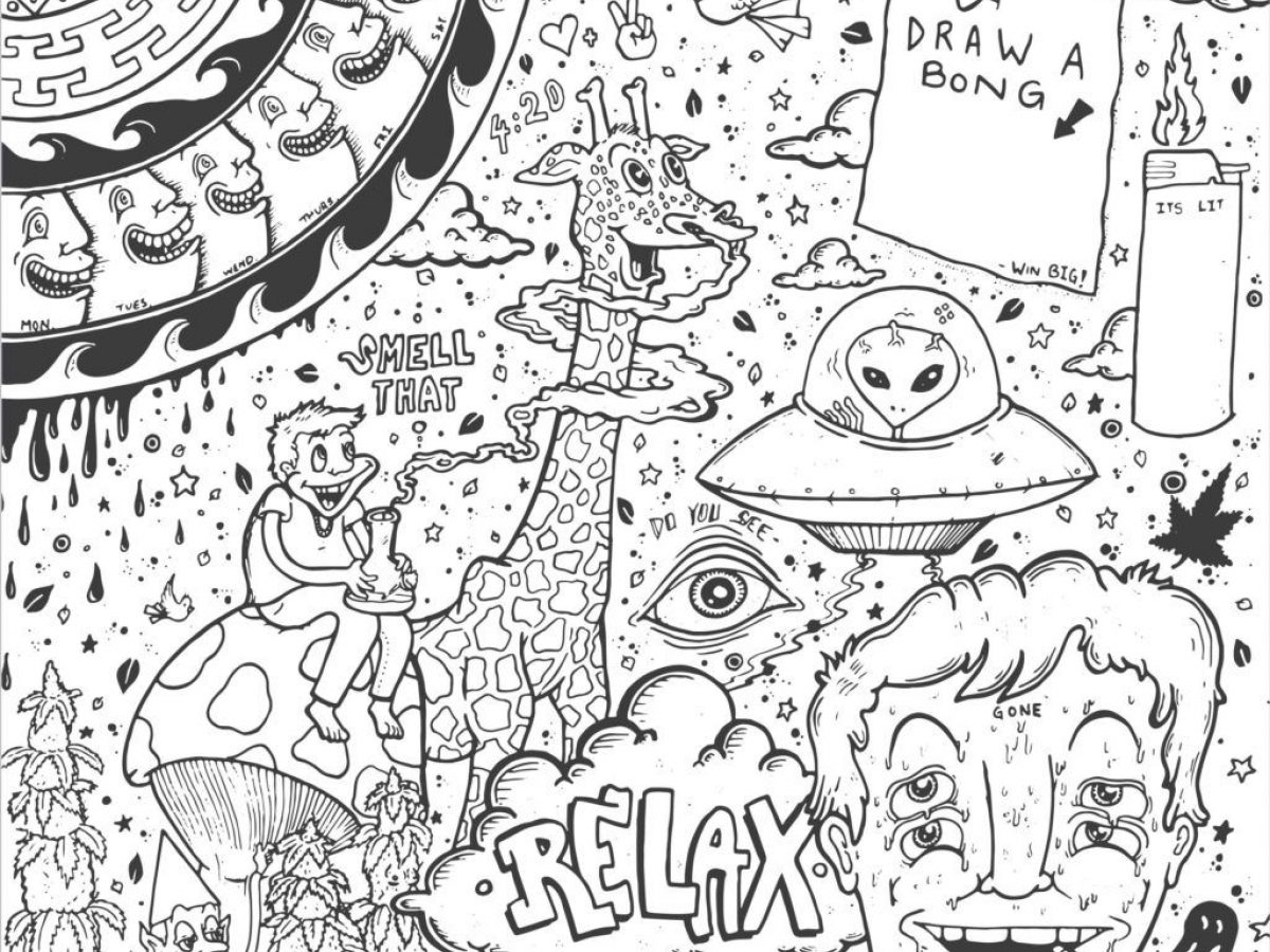 Trippy Coloring Pages Trippy Colouring Pages Unbelievable Psychedelic Coloring For Adults