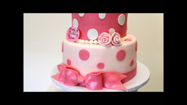 Two Tier Birthday Cake Pink And White Birthday Cake Birthday Cake Idea 2 Tier Ba Cake