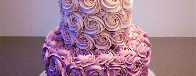 Two Tier Birthday Cake Purple Rose Ombre Two Tier Cake Glittercake Glitter Cake Cake