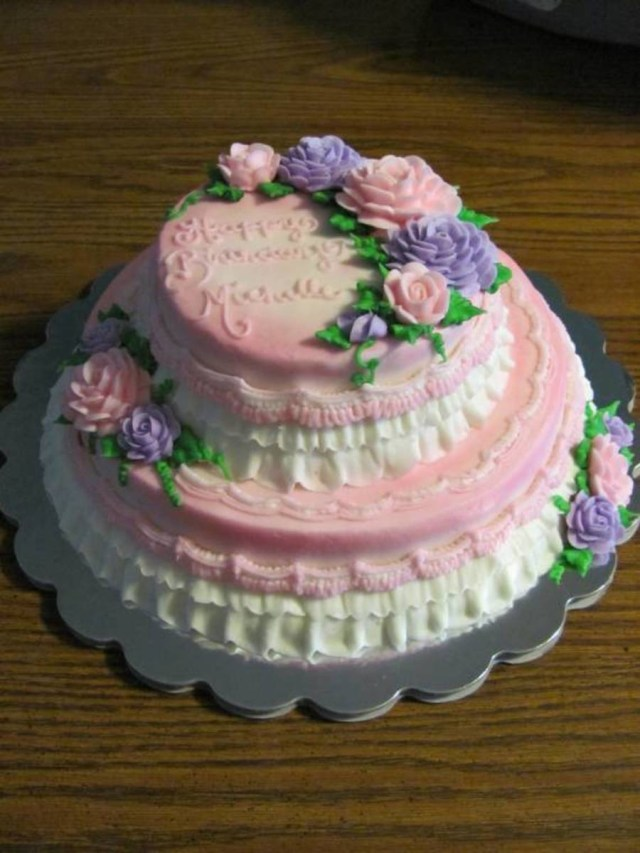 Two Tier Birthday Cake Two Tier Buttercream Birthday Cake Cakecentral