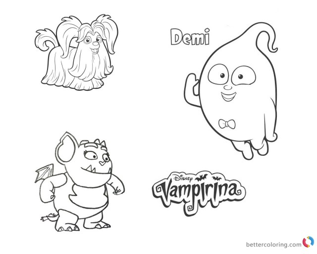 Vampirina Coloring Pages Vampirina Coloring Pages Wolfie Demi And Gregoria Free Printable