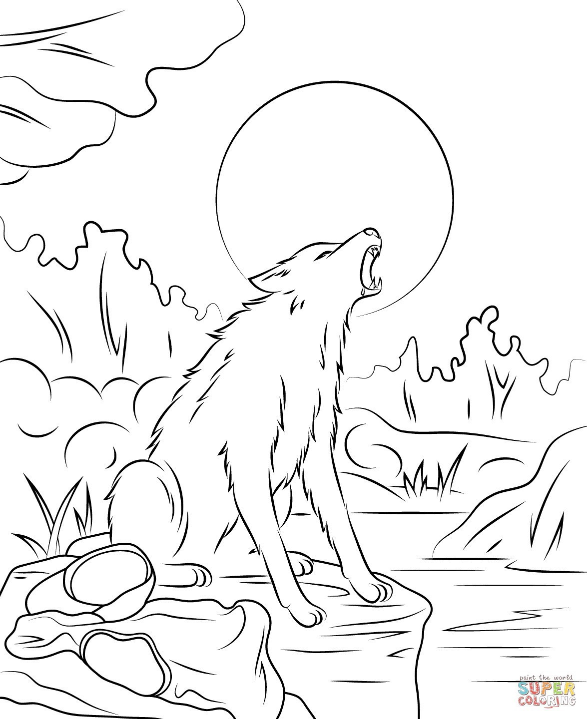 Werewolf Coloring Pages Best Of Scary Werewolf Coloring ...