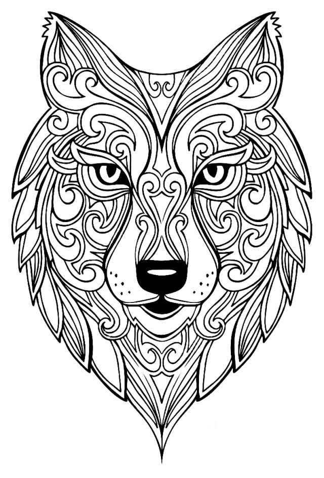 Wolf Coloring Pages For Adults Wolf 2 Wolves Adult Coloring Pages