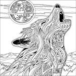 Wolf Coloring Pages For Adults Wolf Wolves Adult Coloring Pages Book Chance Vintage Paint Number