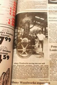 Albany Woodworks New Mill Ponchatoula TImes Report