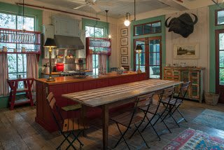 exposed rustic heart pine traditional florida kitchen