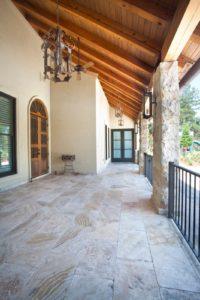 outdoor living space beams
