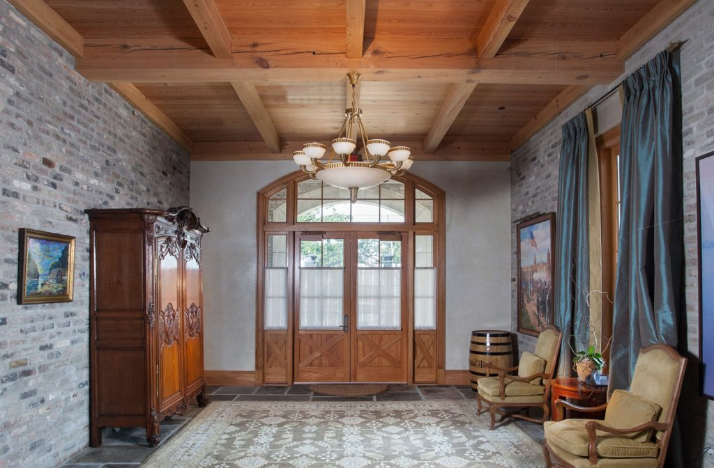 Pine Beams Entry Way