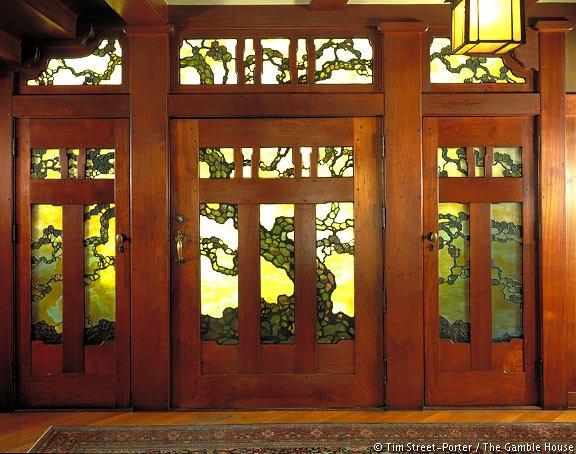 Tree of Life Natural Wood Front Door