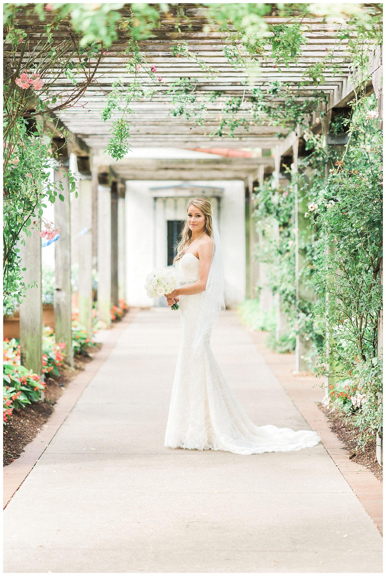 Chelsea  Bridal Portraits at Dallas Arboretum  Alba Rose