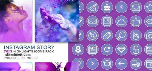 210-Instagram-Story-Highlights-Purple-Icons-PackAlBasitSoft.Com