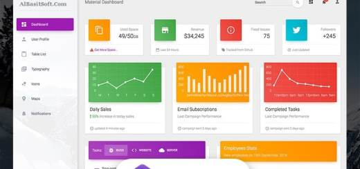 Material Dashboard Free Templates Download(AlBasitSoft.Com)