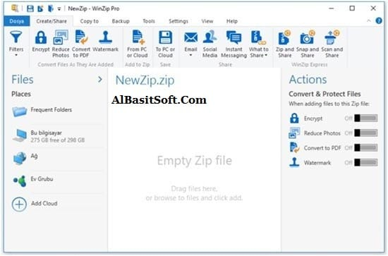 WinZip Pro 24.0 Build 13618 With Crack(AlBasitSoft.Com)