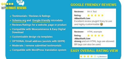 WP Ultimate Reviews Pro - WordPress Plugin Free Download(AlBasitSoft.Com)