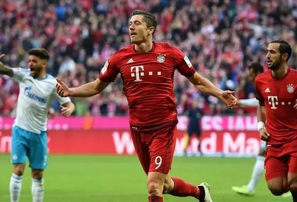 أهداف مباراة بايرن ميونخ وشالكه 30 الدوري الألماني  البوابة