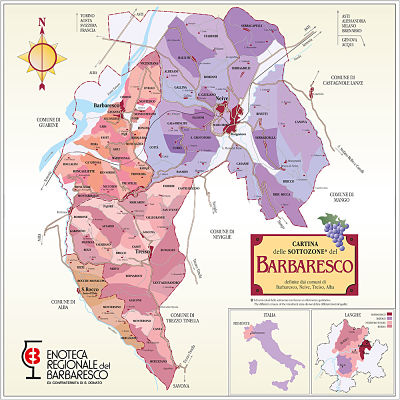 barbaresco wine map