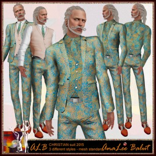 ALB CHRISTIAN suit 2015 - 3 different styles
