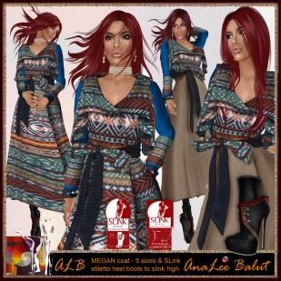 ALB MEGAN trench coat knitted & stilleto heel boots to SLink