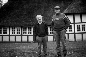 Hjemstavnsgården i Gummerup. Formand Paul Smith og næstformand Rasmus Bjørgmose.