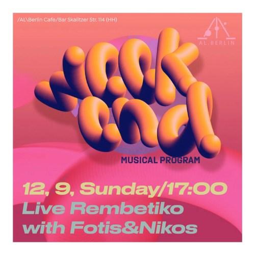 Sunday Rembetiko Live show with Futis and Nikos September