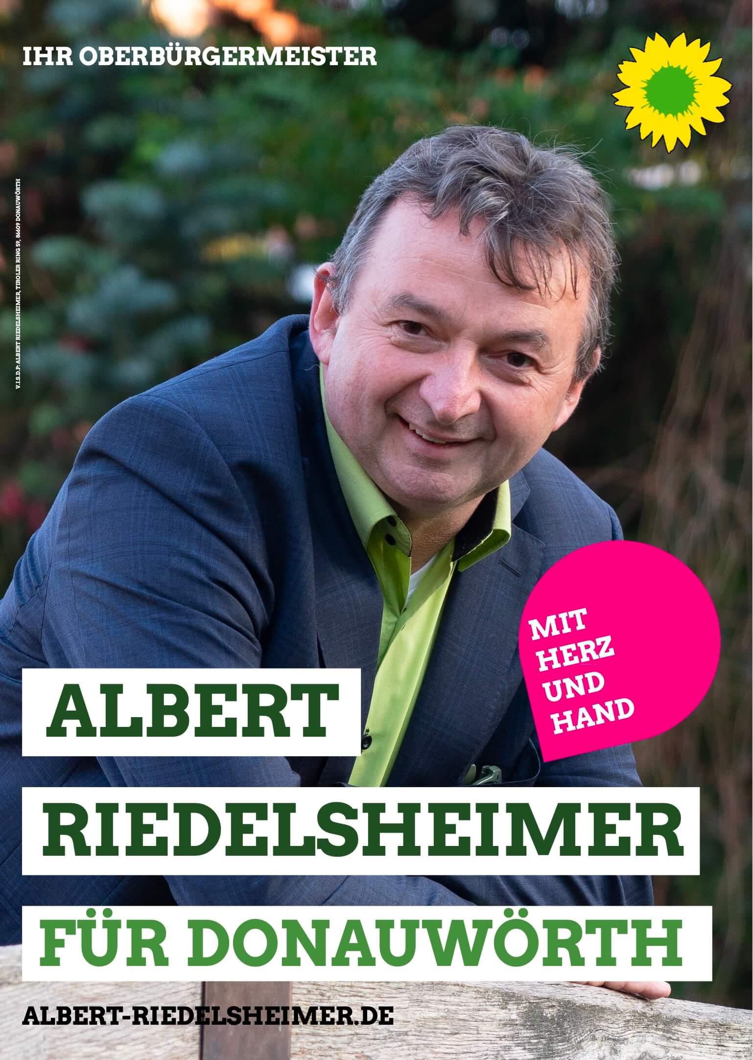 Albert Riedelsheimer Bürgermeister für Donauwörth