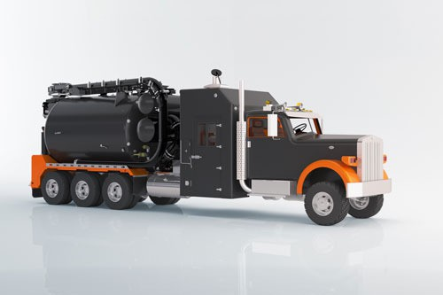 PhotoShopped image of a hydrovac truck model