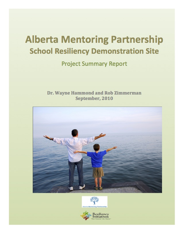 Alberta Mentoring Partnership School Resiliency Demonstration Site September 2010