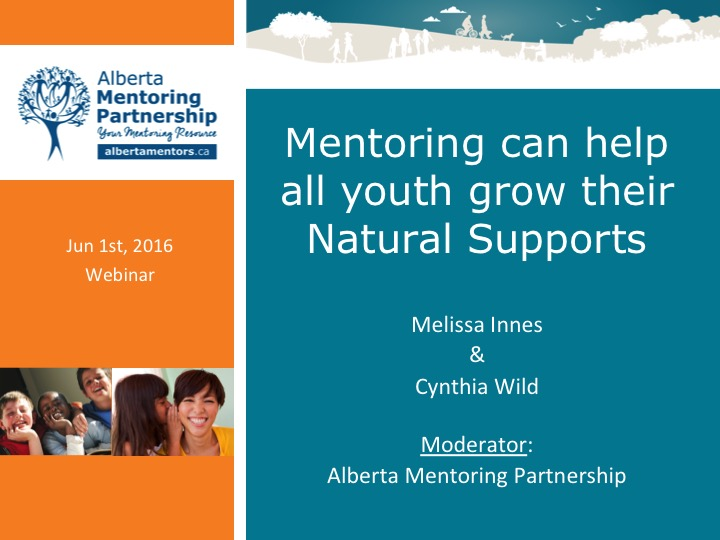 Mentoring can help all youth grow their Natural Supports