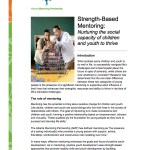 Strength Based Mentoring - Introduction