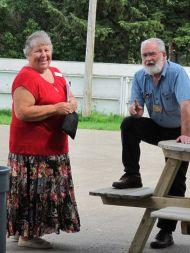 Carol, our new registrar, & Curtis, our newsletter editor
