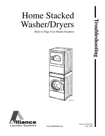 Stackable washer dryer installation instructions