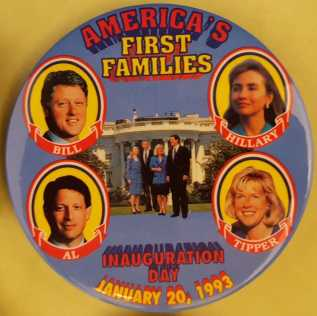 Clinton-Gore-1st Ladies Inaguration Pin
