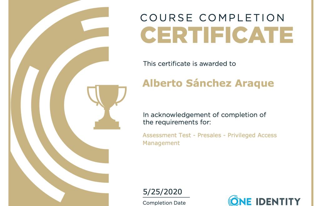 PAM presales certificate