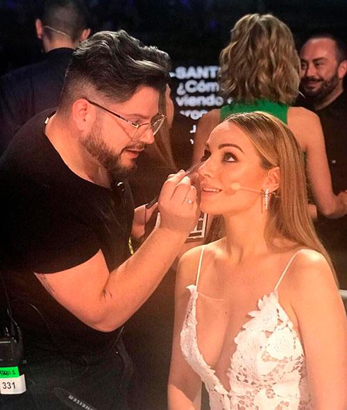 Maquillaje y Peluqueria Got Talent España. Director de Peluqueria y Maquillaje Alberto Dugarte