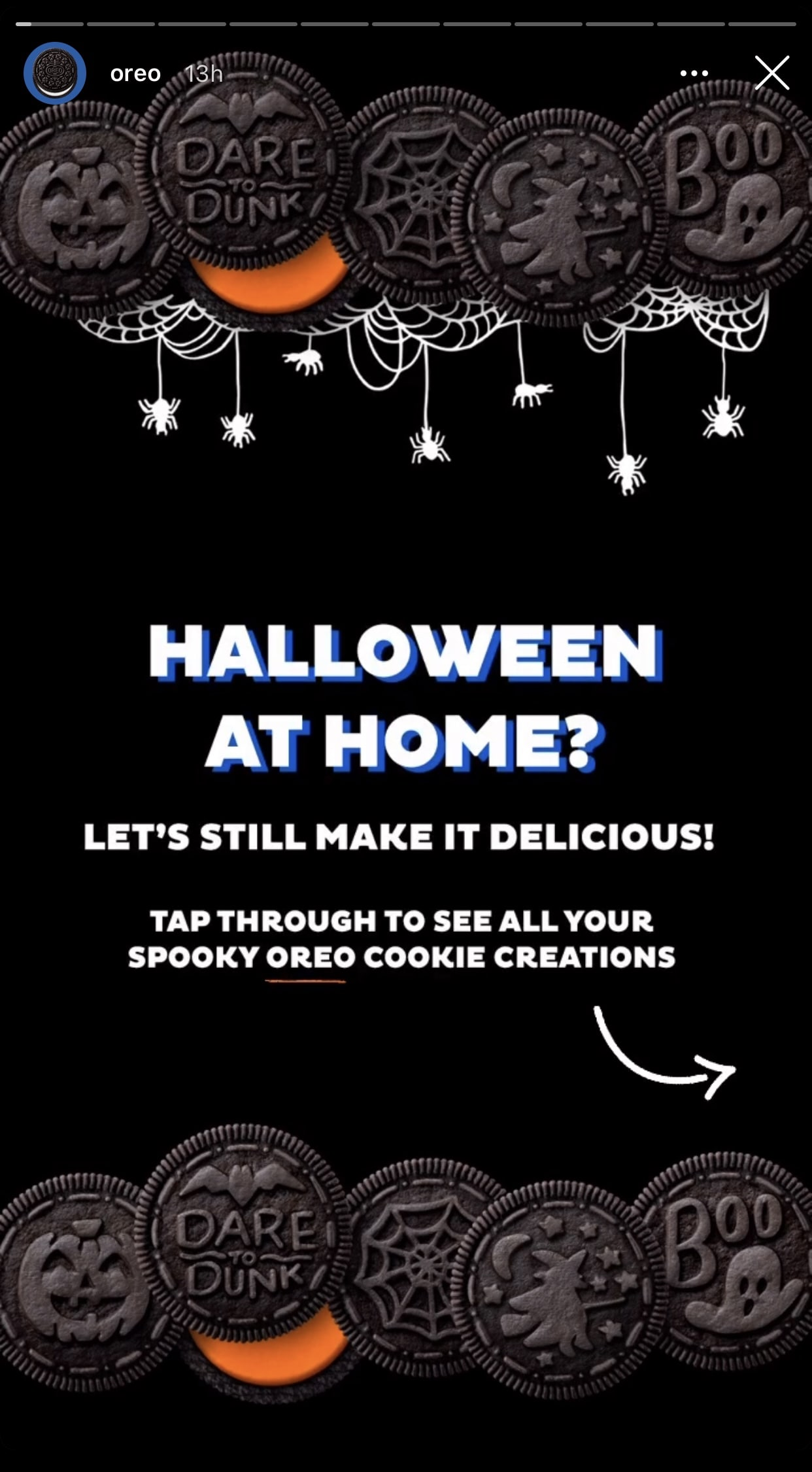 Oreo Halloween 2020 Instagram Post