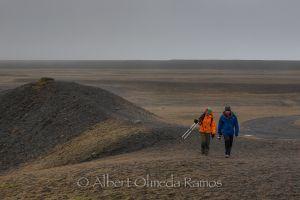 Faby y Guaje buscando la imagen, Jökulsarlón, Islandia