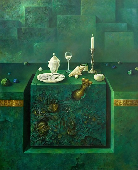 Still life. Oil on canvas 60×48 inches
